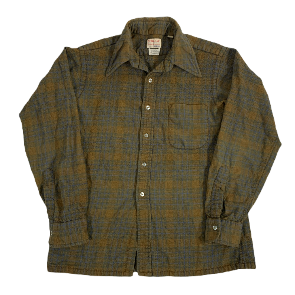 "Vintage Challa Lamb's Wool ""Open Collar"" Shirt"