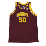 "Vintage Minnesota Golden Gophers ""Starter"" Basketball Jersey"