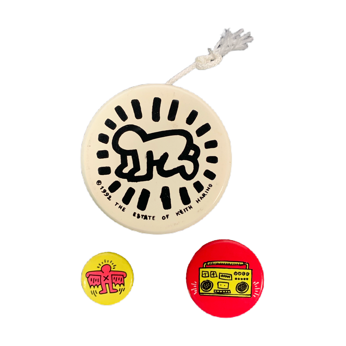 "Vintage Keith Haring ""Pop Shop"" Yo-Yo & Pins"