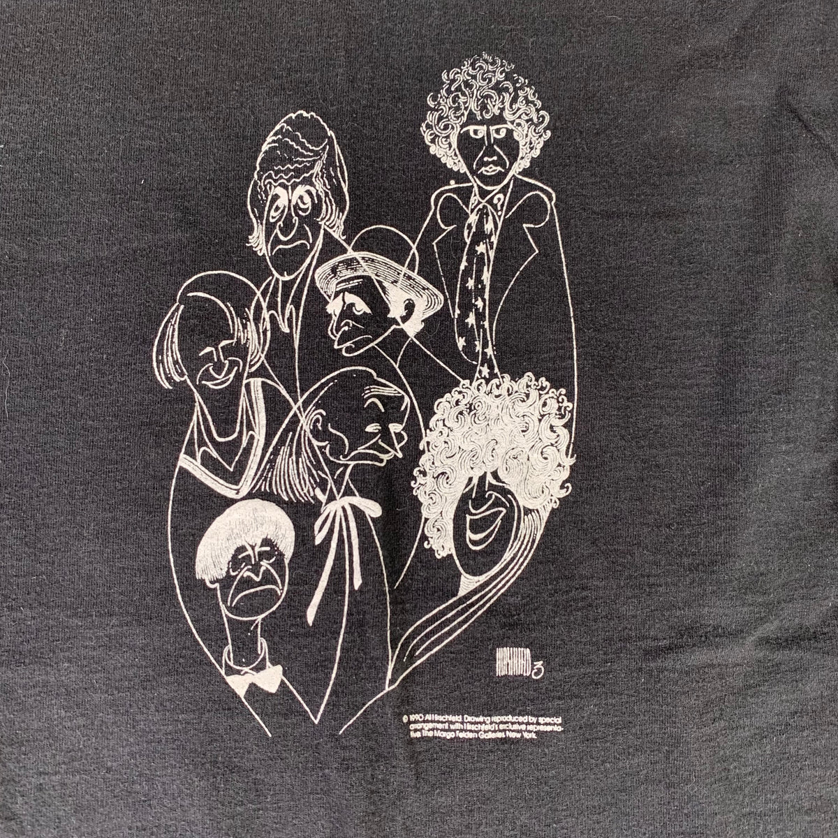 "Vintage Al Hirschfeld ""Broadway"" Long Sleeve Shirt"