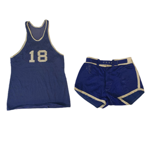 "Vintage Webb & Wolfe Sporting Goods ""#18"" Basketball Kit"