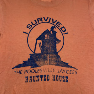 "Vintage Poolesville Jaycees ""Haunted House"" T-Shirt"