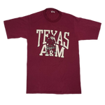 "Vintage Texas A&M ""Aggies"" Sand-Knit T-Shirt"