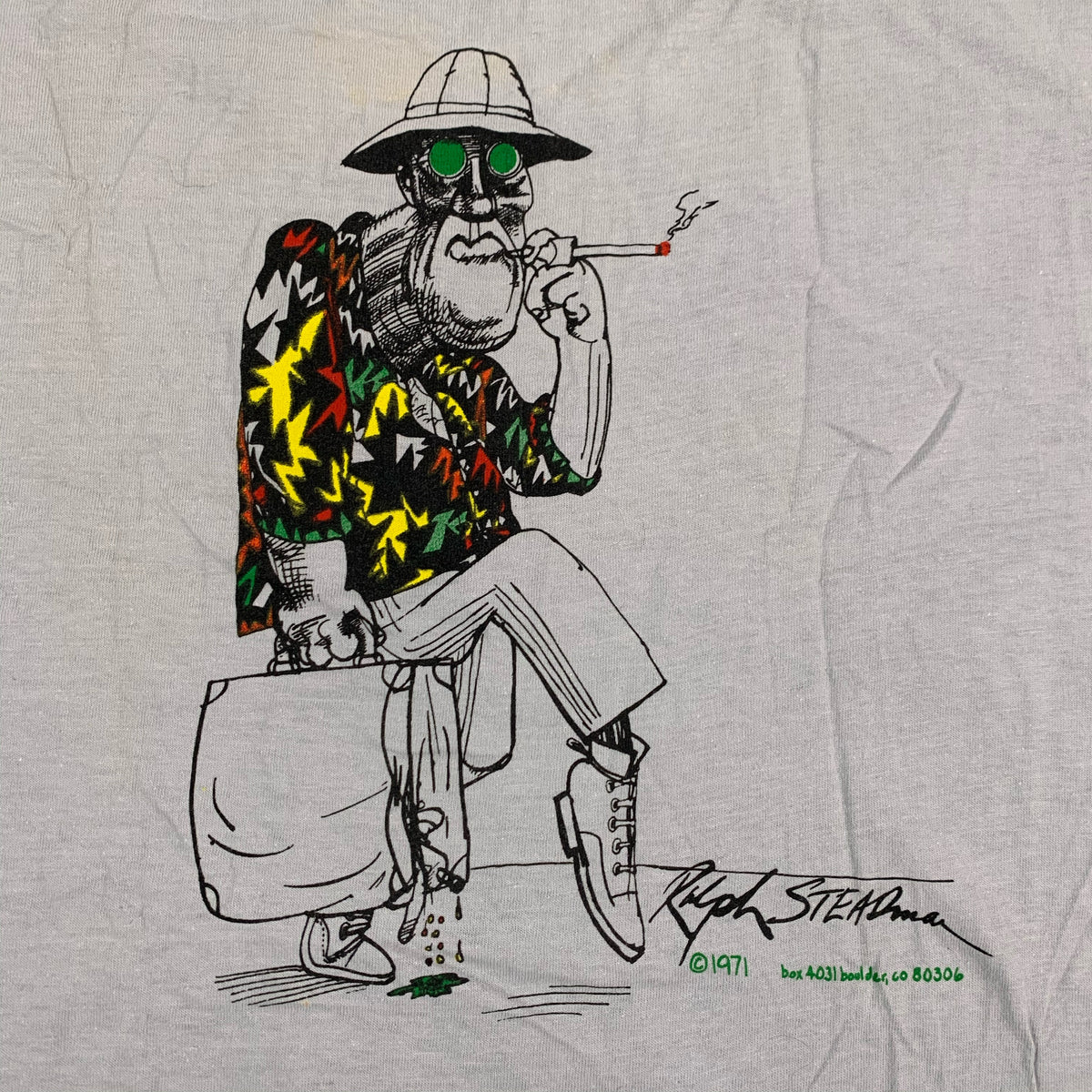 "Vintage Ralph Steadman ""Fear And Loathing In Las Vegas"" Dr. Gonzo T-Shirt"