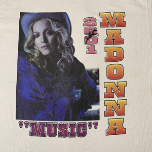 Vintage Madonna Drowned 2001 Tour T Shirt Detail
