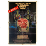 Vintage Original 1985 The Return Of The Living Dead Thorn One Sheet Poster