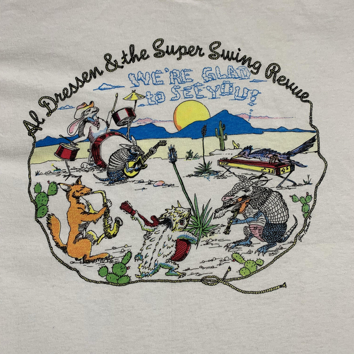 "Vintage Al Dressen & The Super Swing Revue ""We're Glad To See You"" T-Shirt"