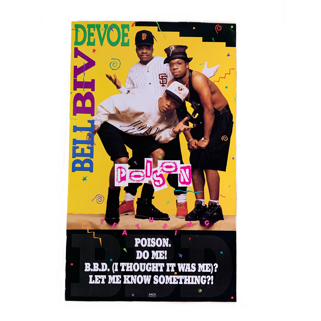 Bell Civ Devoe Poison MCA records original vintage poster