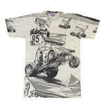 "Vintage Dirt Track Sprint Car ""All Over Print"" T-Shirt"