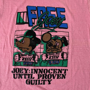 "Vintage Mickey Mouse ""Free Joey"" Bootleg T-Shirt"
