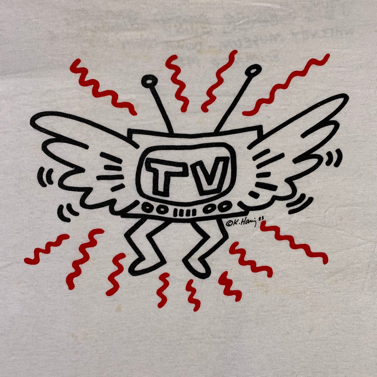 "Vintage Keith Haring TV ""The Comic Art Show"" Whitney Museum T-Shirt"
