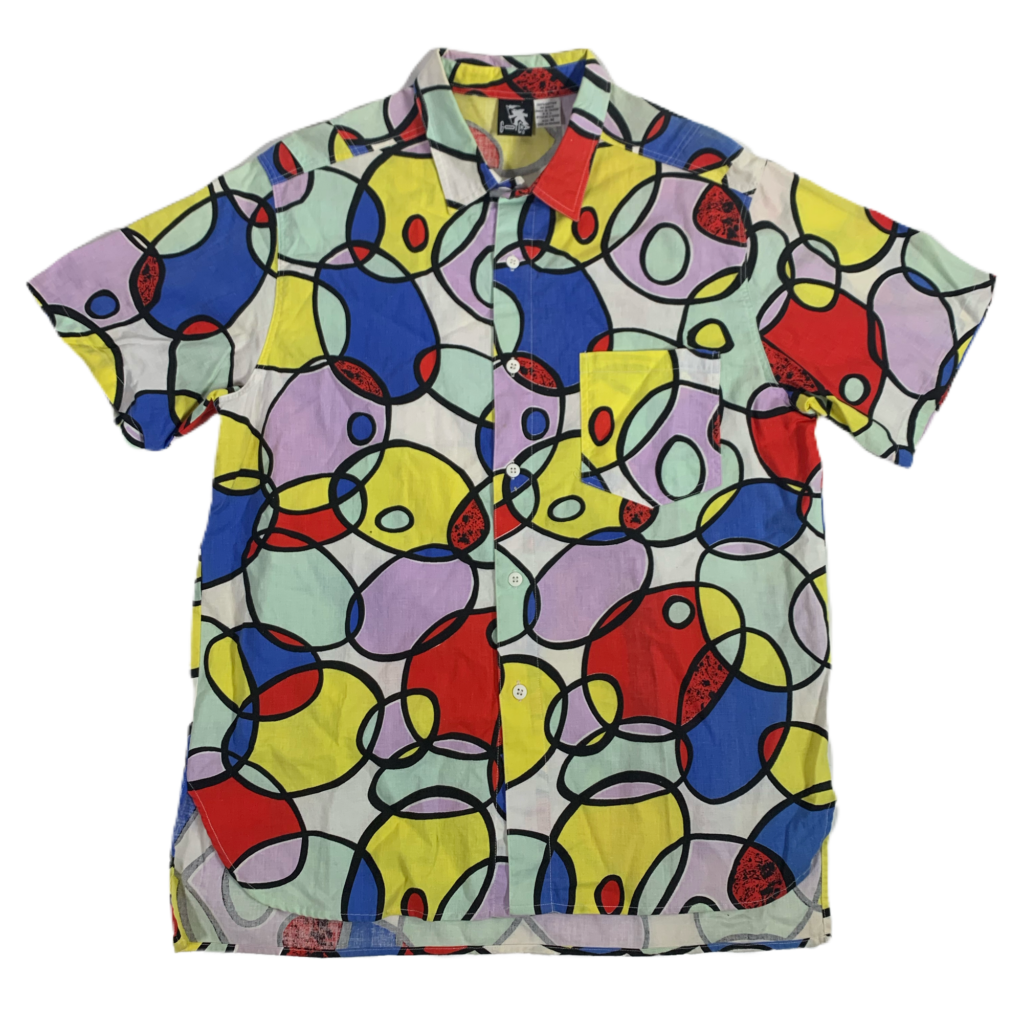 "Vintage Gotcha ""All Over"" Print Camp Shirt - jointcustodydc"