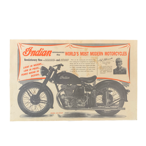 Vintage Indian Motorcycles Model 249 Scout Poster