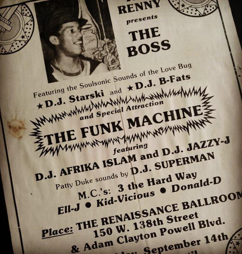 3 the Hard Way Flyer with DJ Starski DJ B-Fats The Funk Machine DJ Afrika Islam DJ Jazzy-J DJ Superman