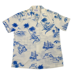 "Vintage Kai Nani Open Collar ""Hawaiian"" Shirt"