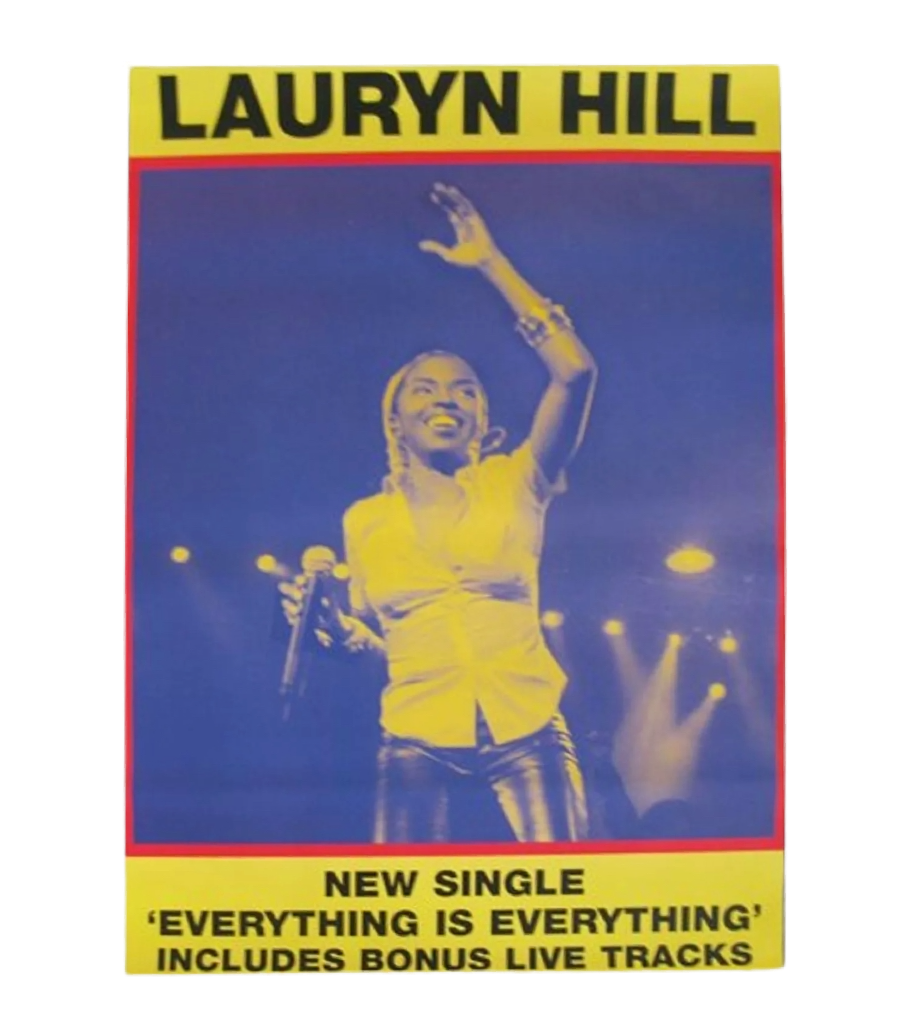 "Vintage Lauryn Hill ""Everything Is Everything"" Subway Poster"