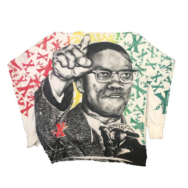 "Vintage Malcolm X ""All Over Print"" Crewneck Sweatshirt"