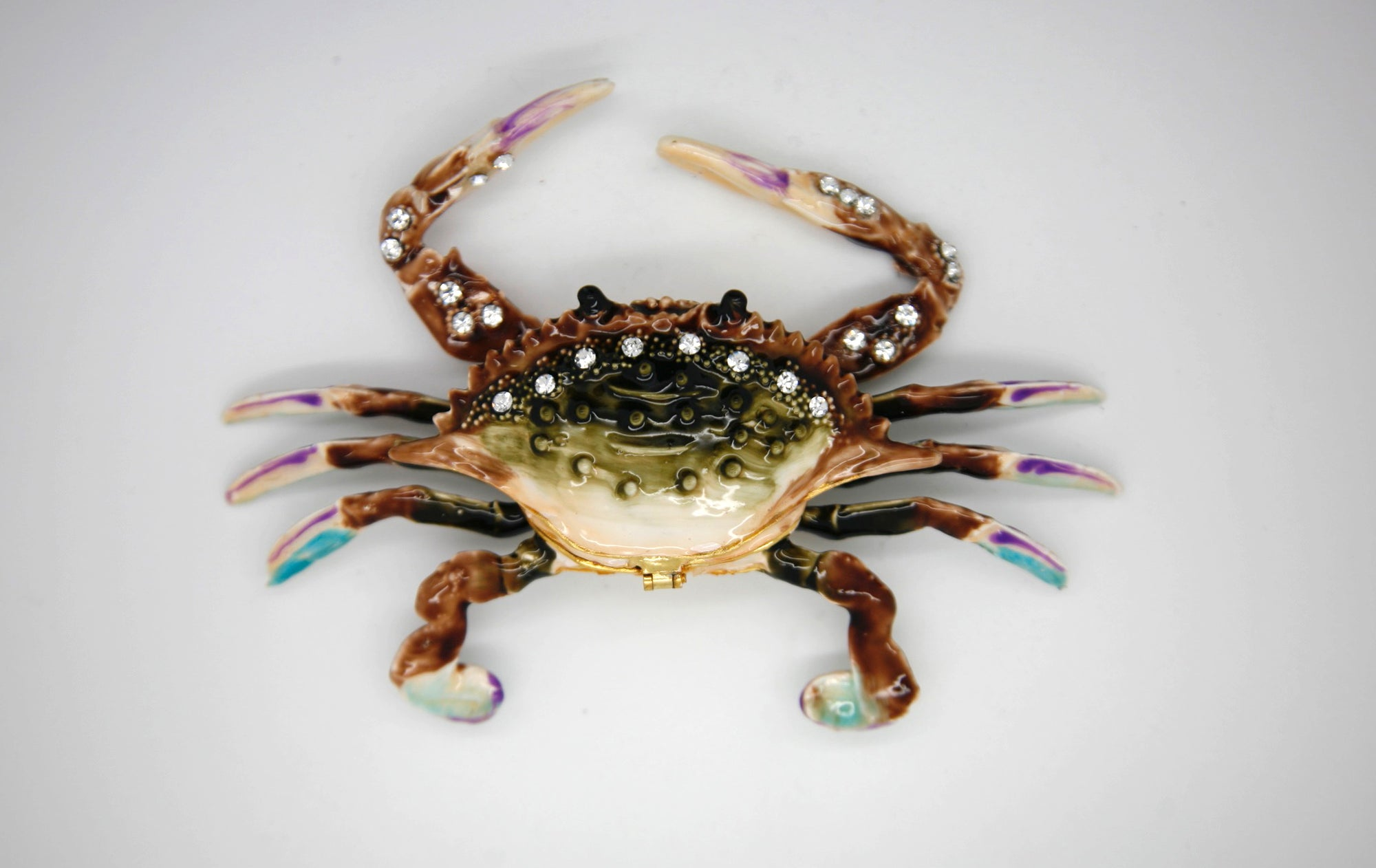 Deep Green Big Crab Trinket Box
