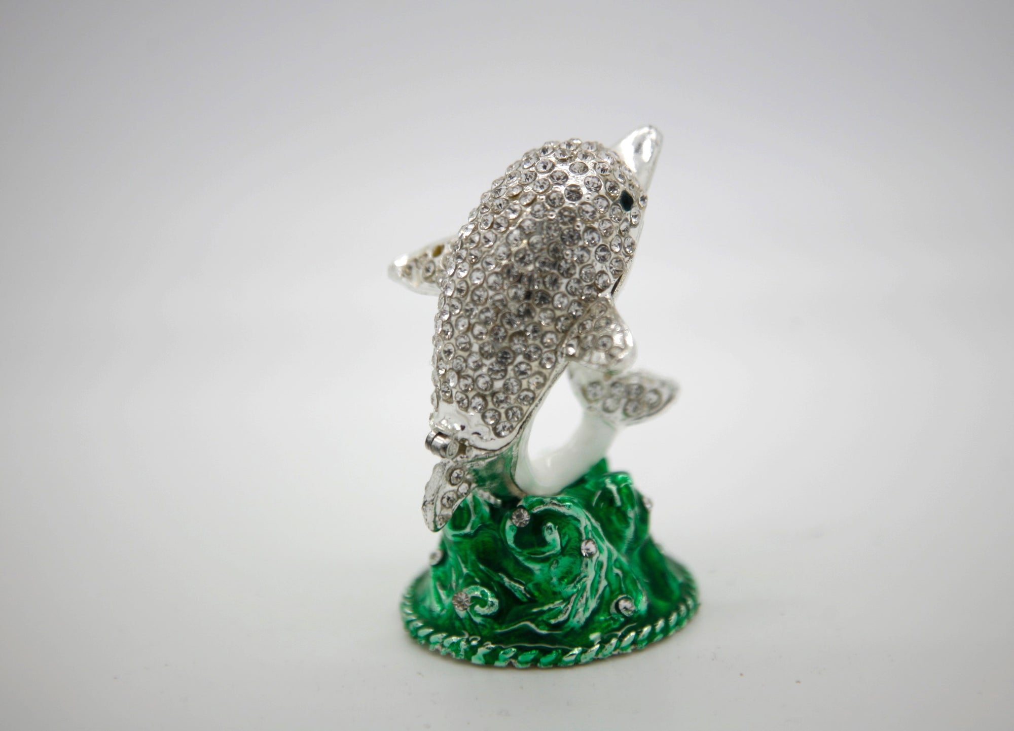 Little Silver Dolphin Trinket Box