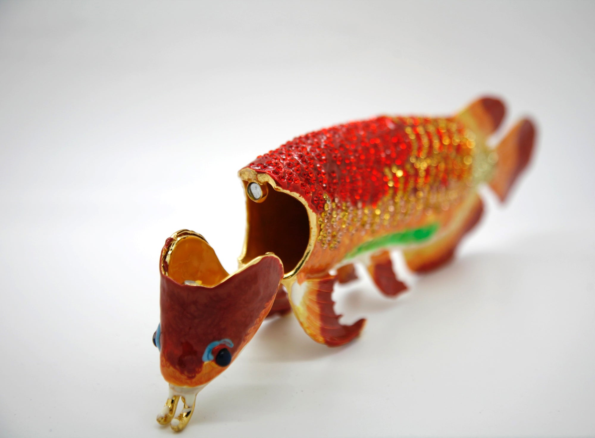 Red Gold Arowana Trinket Box
