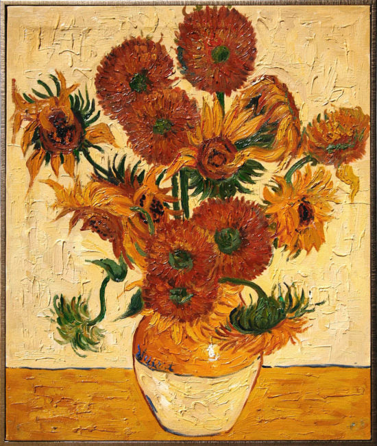 Vase With Fifteen Sunflowers Hmazing