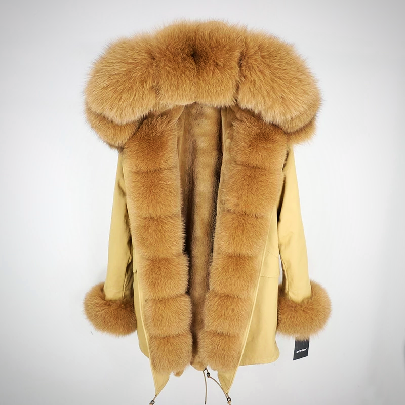 PARKAS BIG REAL FOX FUR JACKET