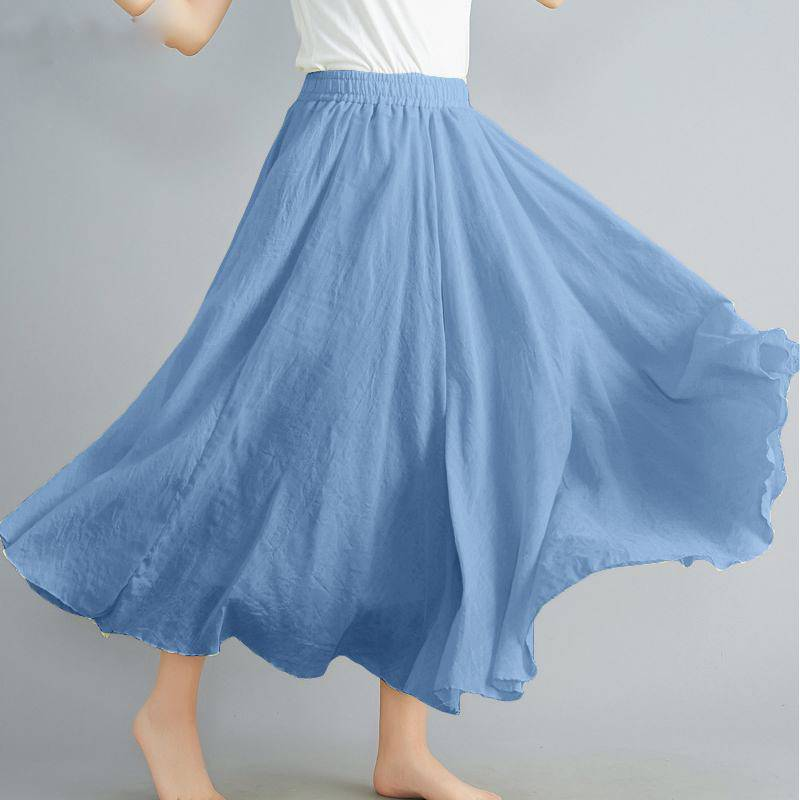 VINTAGE ELASTIC HIGH WAIST LONG SKIRT