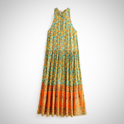 Hippie Sleeveless  Beach Dress