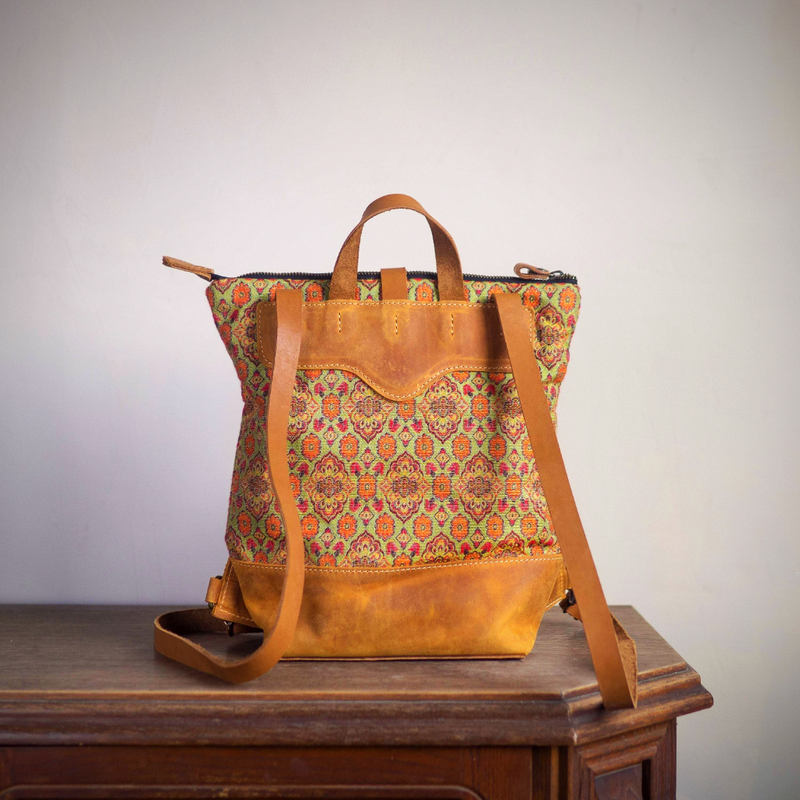 Retro leather boho handbag