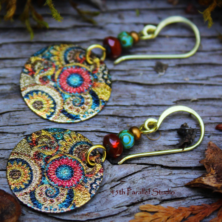 Boho Sunflower Earrings