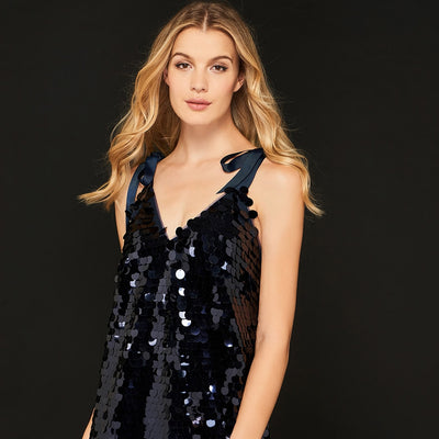 Backless Sequin Cocktail Dress
