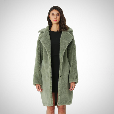 BLENDS WOOLEN ELEGANT LONG COAT