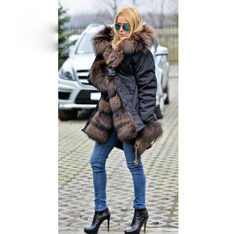 PARKA LUXURY REAL FUR COAT