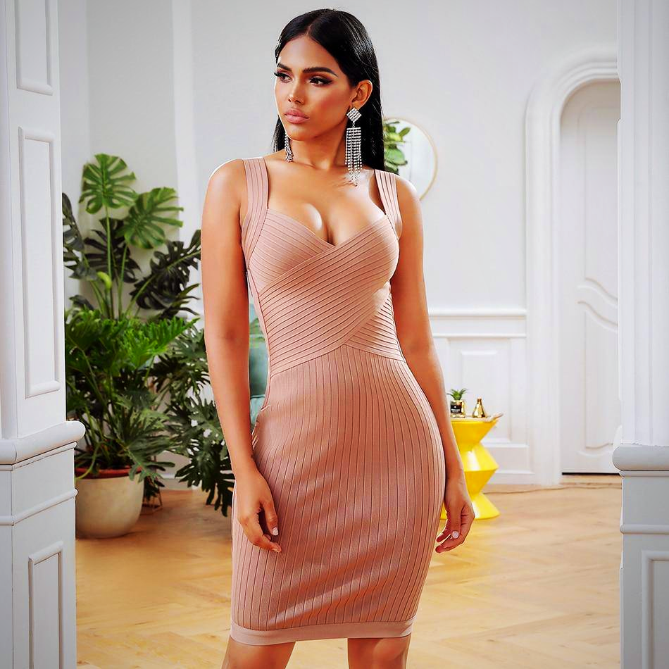 BODYCON MIDI BANDAGE PARTY DRESS