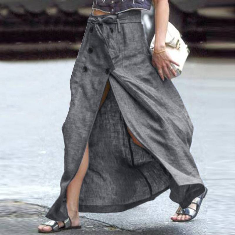 CASUAL SPLIT HEM LONG SKIRT