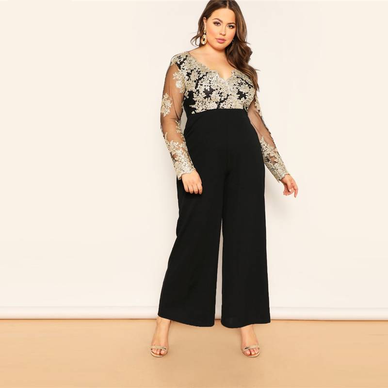 V Neck  Long line Jumpsuit