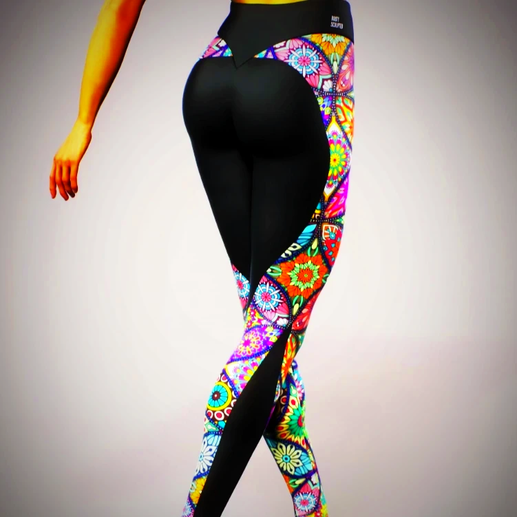 High Waisted Colourful Yoga Pants