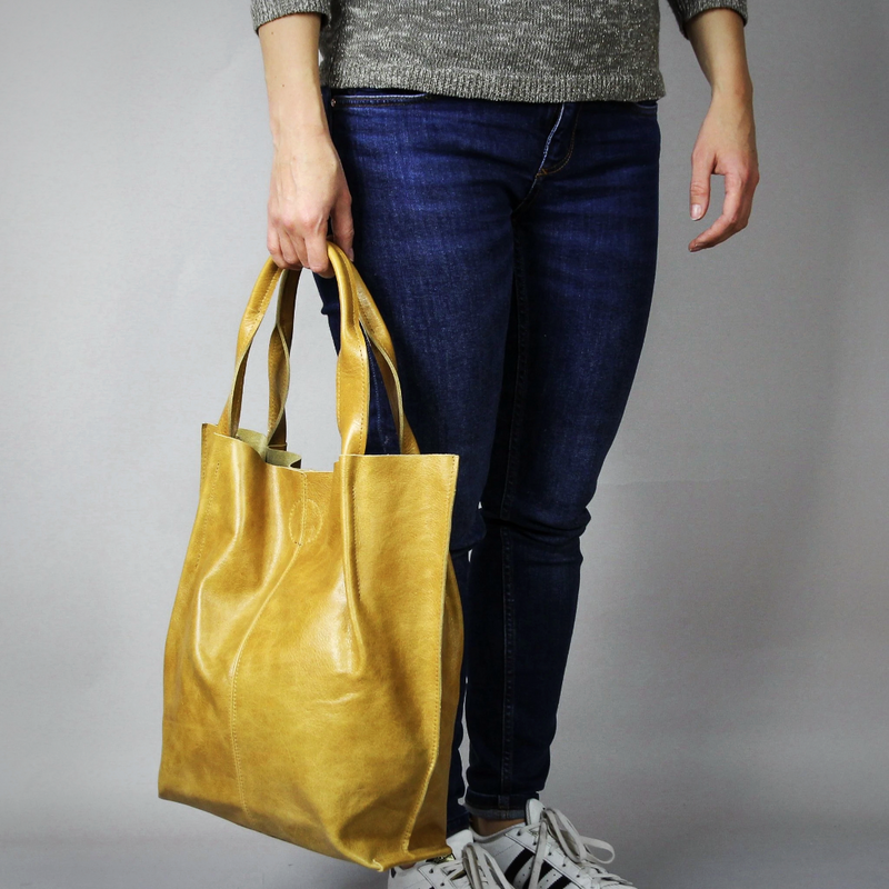 Large Mustard Tote Bag