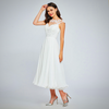 IVORY ELEGANT NECK WEDDING DRESS