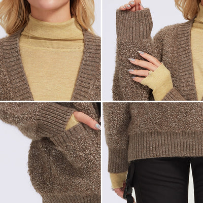 DOUBLE SIDED CASHMERE CARDIGAN