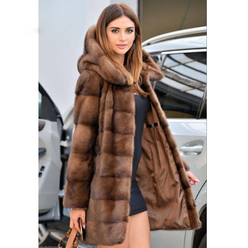 LUXURY REAL MINK WARM FUR COAT