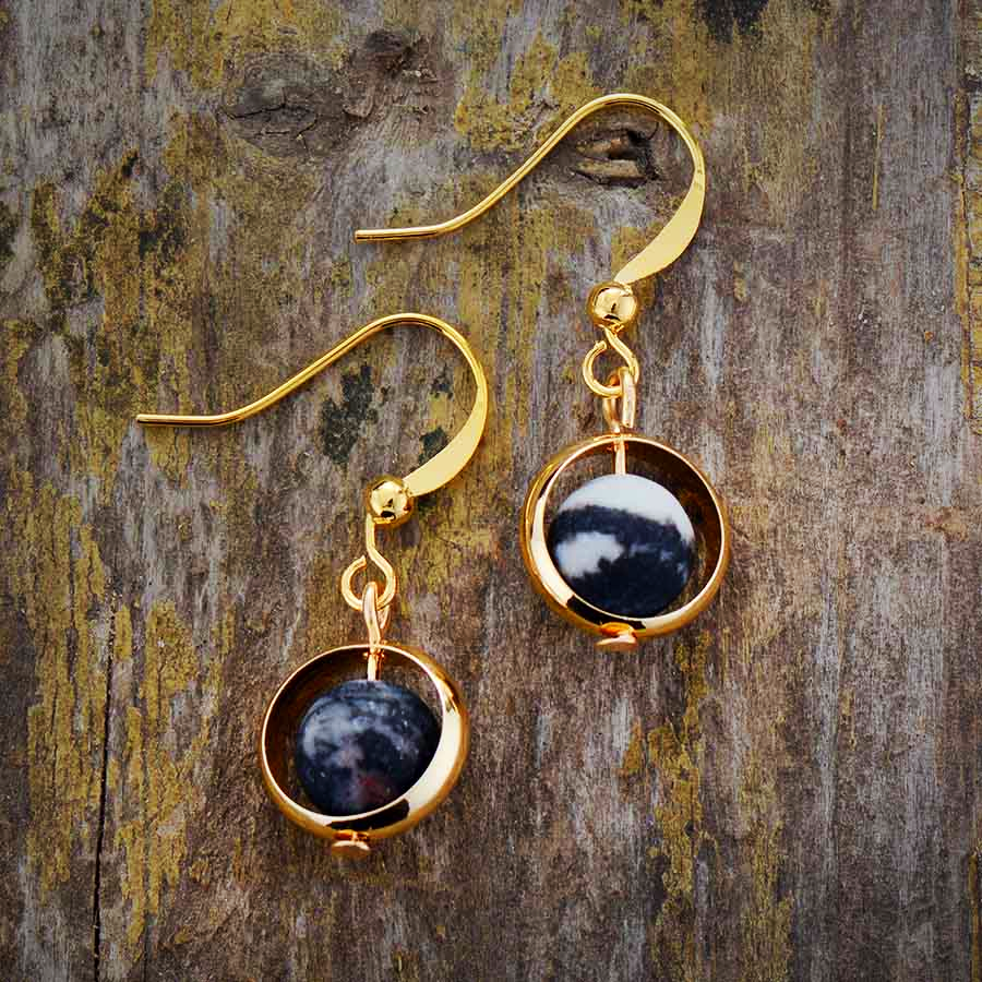 Natural Stone Drop Earring