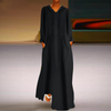 PLUS SIZE FLEECE LONG DRESS