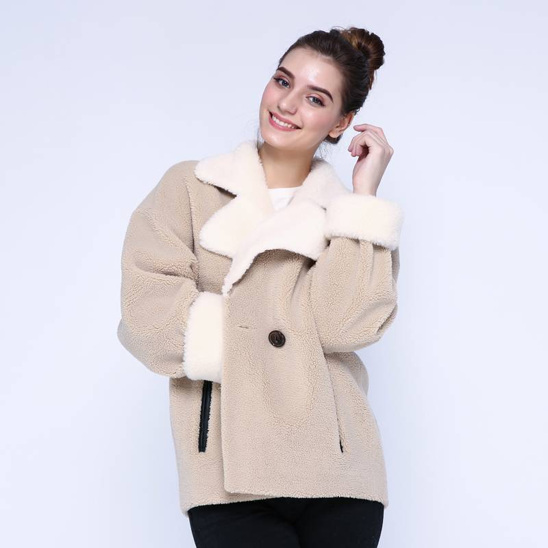 WOOL WARM FUR LOOSE JACKET