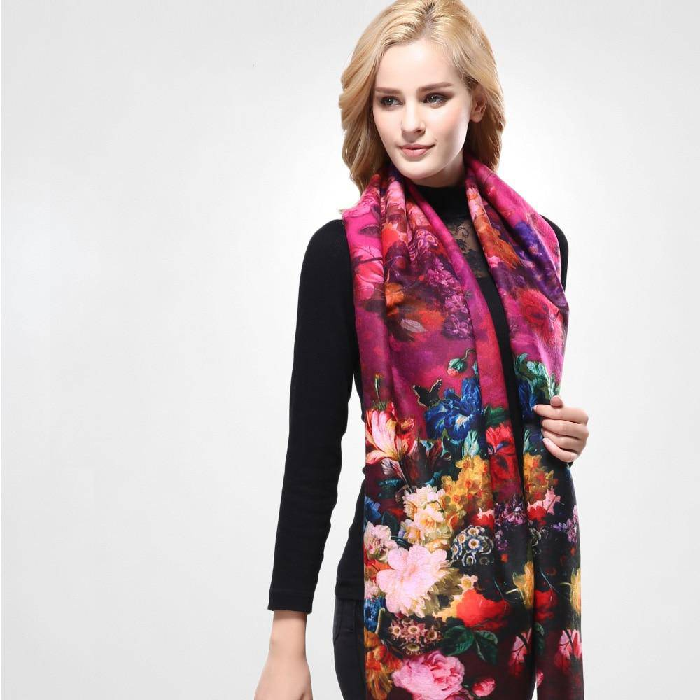 DIGITAL PRINTING FLOWER SCARF