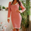 Knitted jacquard midi dress