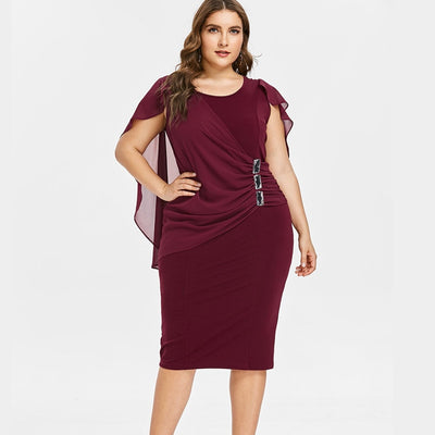 Scoop Neck Sheath Dress