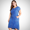 PLUS SIZE DENIM PARTY DRESS