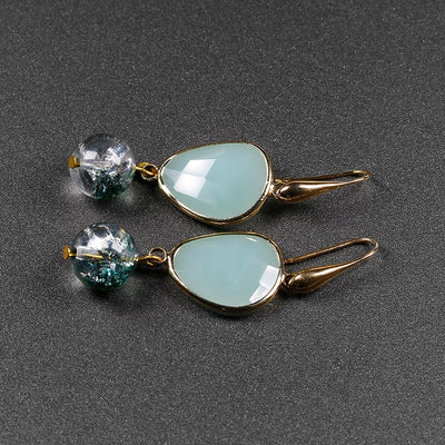 VINTAGE CRYSTAL WATER DROP EARRING