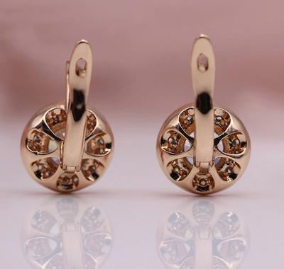 CARVED NATURAL ZIRCON BIG DANGLE EARRING
